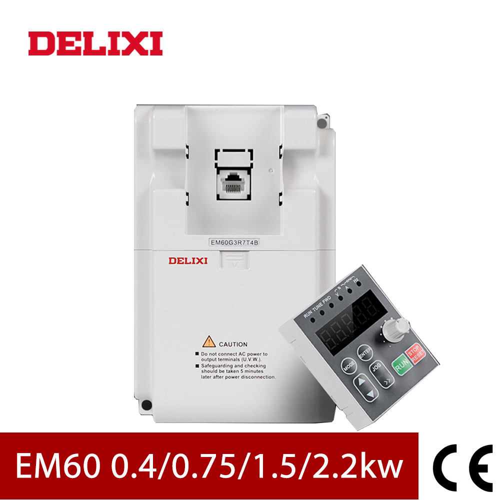 Image 2 - DELIXI AC 220V 0.4KW/0.75KW/1.5KW/2.2KW single phase VFD inverter drives for motor Speed Control 50/60HZ DC frequency converter-in Inverters & Converters from Home Improvement