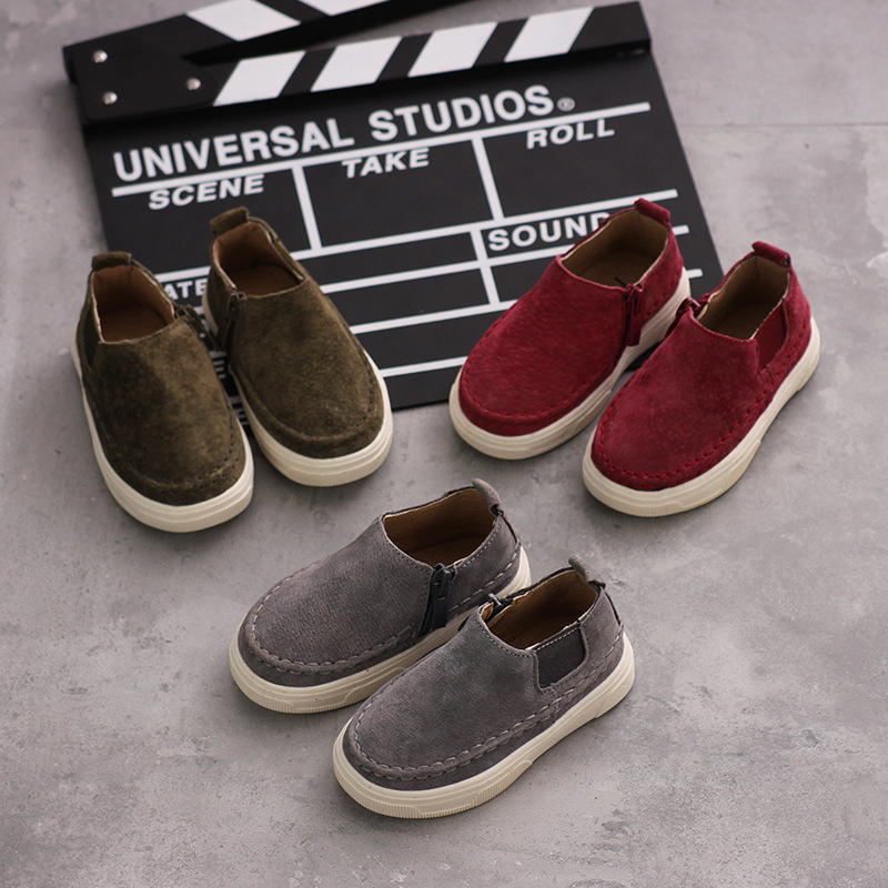 New genuine leather children shoes boys and girls comfortable casual shoes baby soft bottom lightful leather shoes