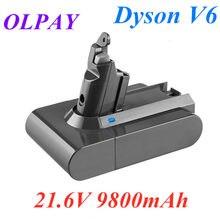 9800mAh 21.6V Bateria Li-ion para Dyson 9.8Ah V6 DC58 DC59 DC61 DC62 DC74 SV09 SV07 SV03 965874-02 Bateria Aspirador de pó