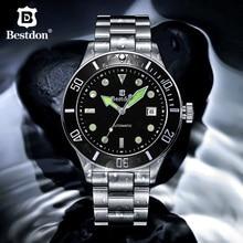 Switzerland Diver Mechanical Watch Men Bestdon GMT Sports Automatic