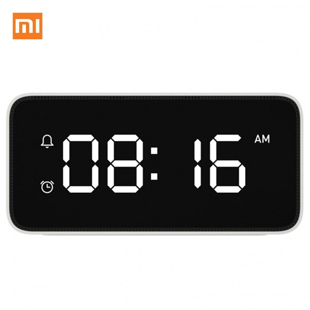 Original Xiaomi Xiaoai Smart Alarm Clock Voice Broadcast Clock ABS Table Dersktop Clocks AutomaticTime Calibration Mi Home App|Smart Remote Control| |  - title=