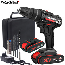 25V Cordless Screwdriver Electric Screwdriver 1.5AH Lithium Battery Charging Drill Power Tools +7 Drill + Tool Bag hilda 16 8v electric screwdriver lithium battery 2 electric drill furadeira cordless screwdriver power tools with drill bit case