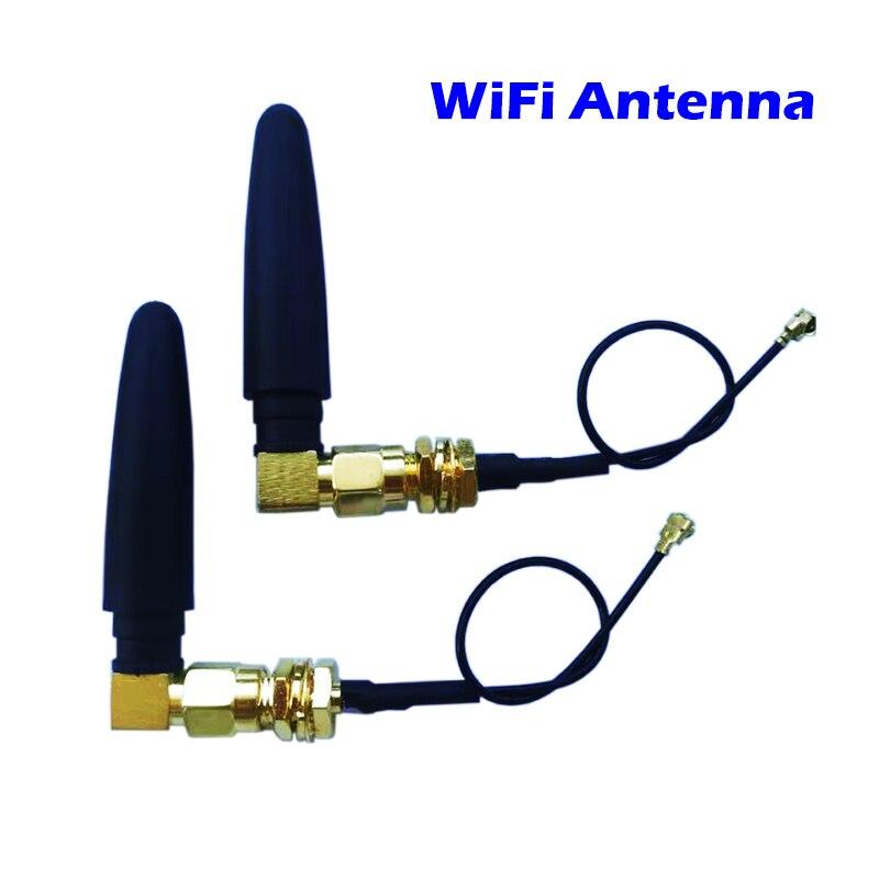 Wifi antena 3dbi sma conector macho 802.11b + ipx para cabo de extensão cabo pigtai 11cm cotovelo ângulo direito l roteador para wi-fi