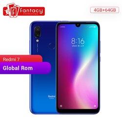 Globalny Rom Xiaomi Redmi 7 4GB pamięci RAM i 64GB ROM rdzeniowy Snapdragon 632 Octa 12MP Dual AI komórkowego telefon 4000mAh duża bateria 1