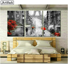 French scenery 5d square diamond painting iron tower pencil full embroidery crystal mosaic decoration