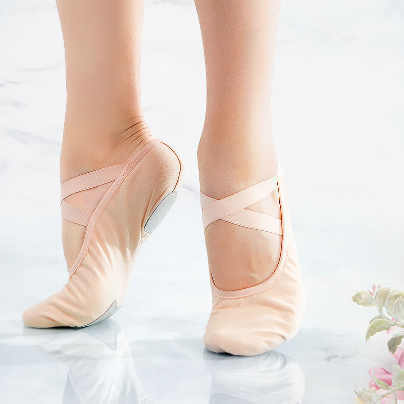 Women Ballet Slippers Soft Ballet Shoes Girls Kids Ballerina Practice Dance Shoes Canvas