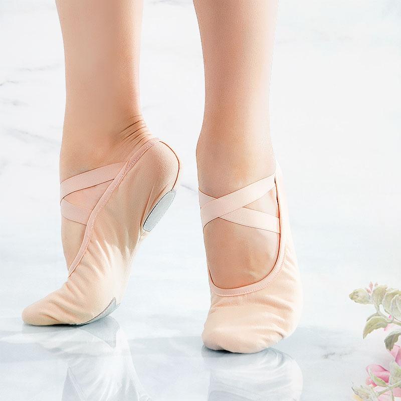 Women Ballet Slippers Soft Ballet Shoes Girls Kids Ballerina Practice Dance Shoes Canvas