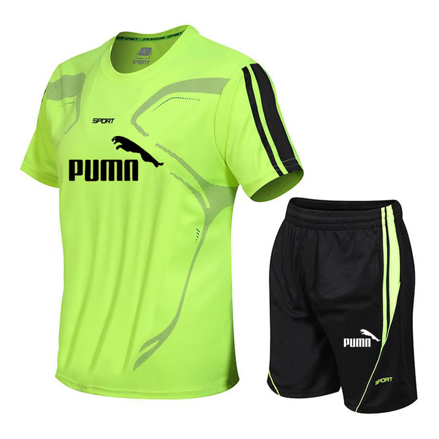 Quality Men s Running Set Football Ride Training Set Survetement Sports Football Men s Outdoor Futbol Training T-Shirt   Shorts