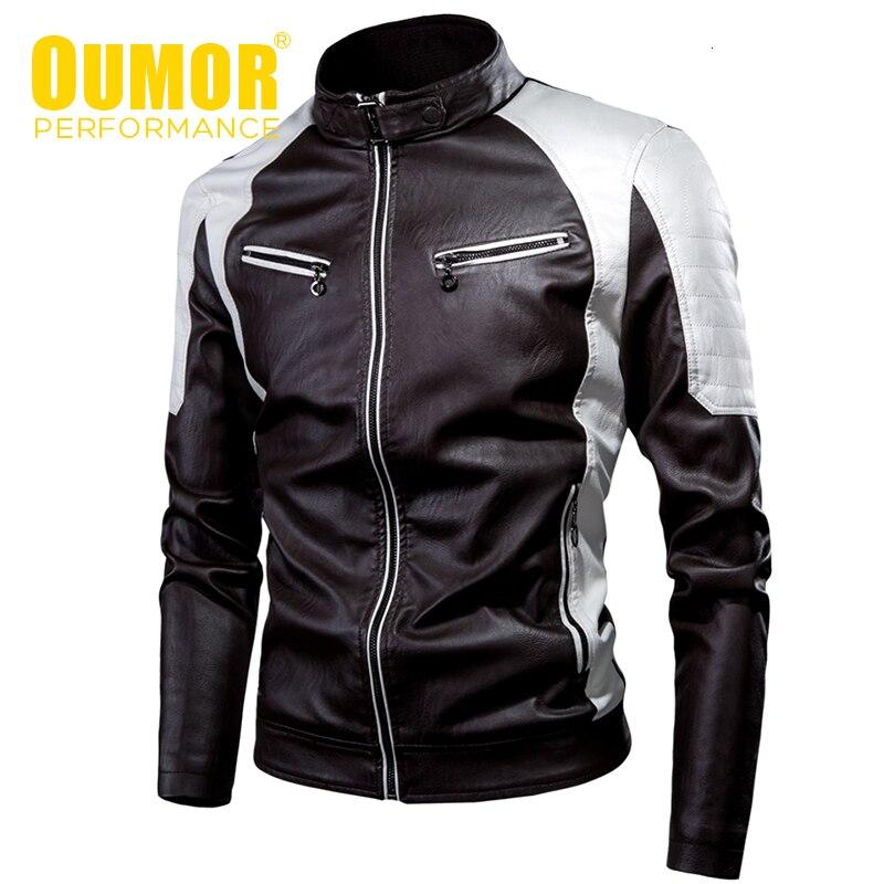Oumor, мужские, 2019, зимние, новые, повседневные, плотные, флисовые, кожаные куртки, мужские, Осенние, уличные, модные, байкерские, теплые, искусственная кожа, куртка для мужчин|Куртки из искуственной кожи|   | АлиЭкспресс