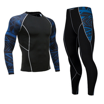 Men's Compression Sportswear Suits Gym Tights Training Clothes Workout Jogging Sports Set Running Rashguard Tracksuit For Men 16