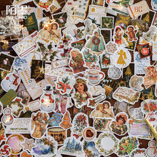 40Pcs Christmas Foil Gold Sticker Scrapbooking Creative DIY Bullet Journal Decorative Adhesive Label Seal Stationery Supplies
