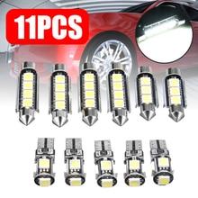 11 шт. Canbus Белый светодиодный светильник, набор авто интерьерных купольных карт, лампа для грузовика, светильник для Opel Insignia Sports Tourer Sedan DC 12V