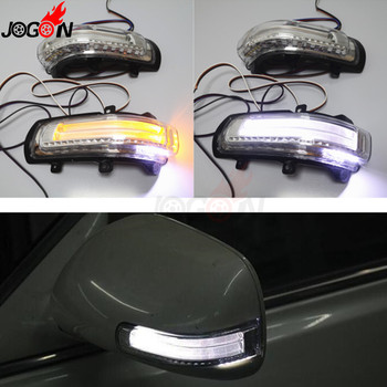 LED Side Wing Mirror Turn Signal Light Courtesy Puddle Parking Position Lamp Trim For Toyota Camry 2007-2011 Corolla Altis Vios