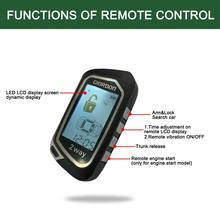 Plug N Play 2 Way LCD Car Alarm Security