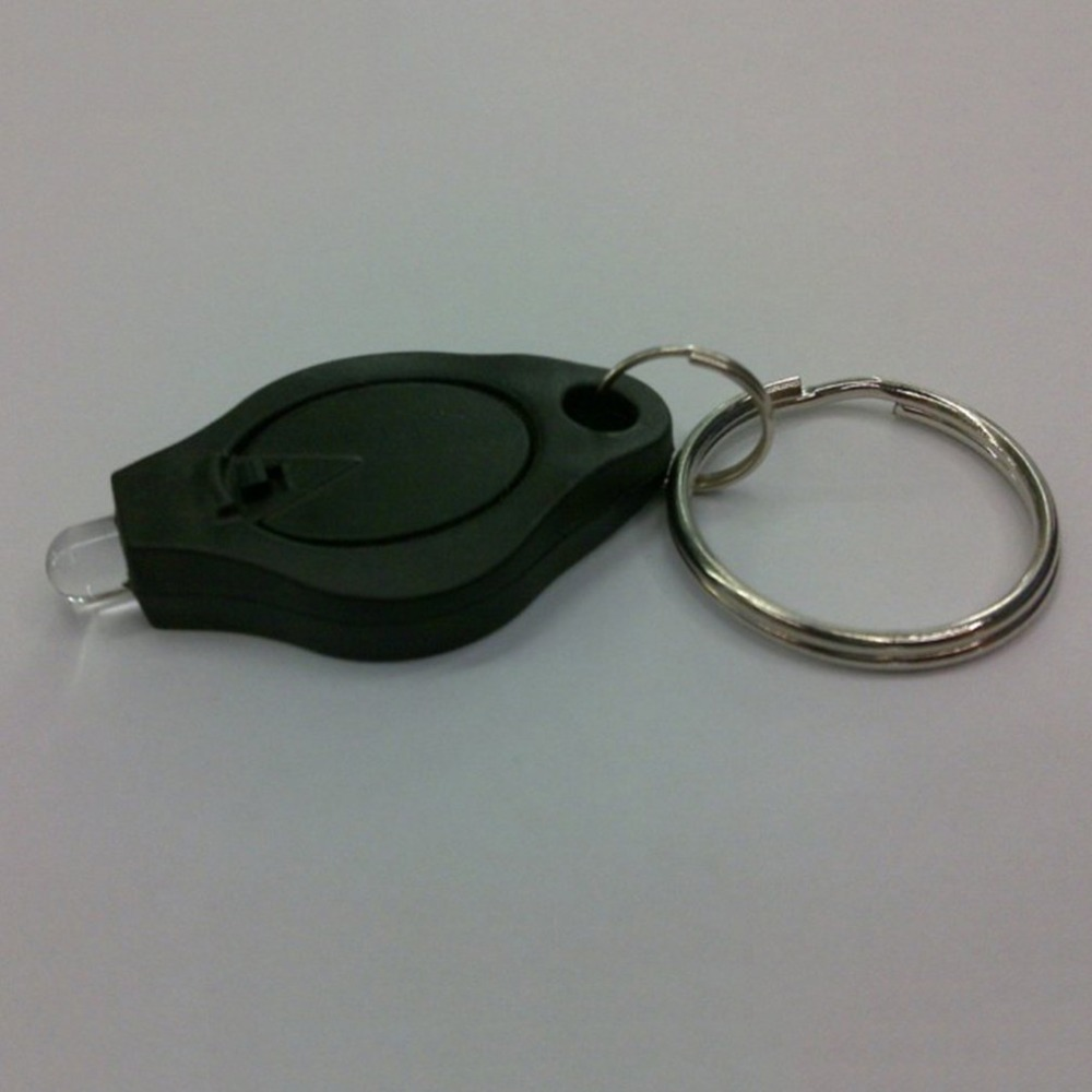 Portable Mini Size Keychain Squeeze Light Micro LED Flashlight Torch Outdoor Camping Emergency Key Ring Light Black