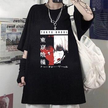 Tokyo Ghoul Anime Manga goth T-Shirt Kaneki Ken Cartoon Nice Loose Woman tshirts Gothic Camiseta de mujer Top 1