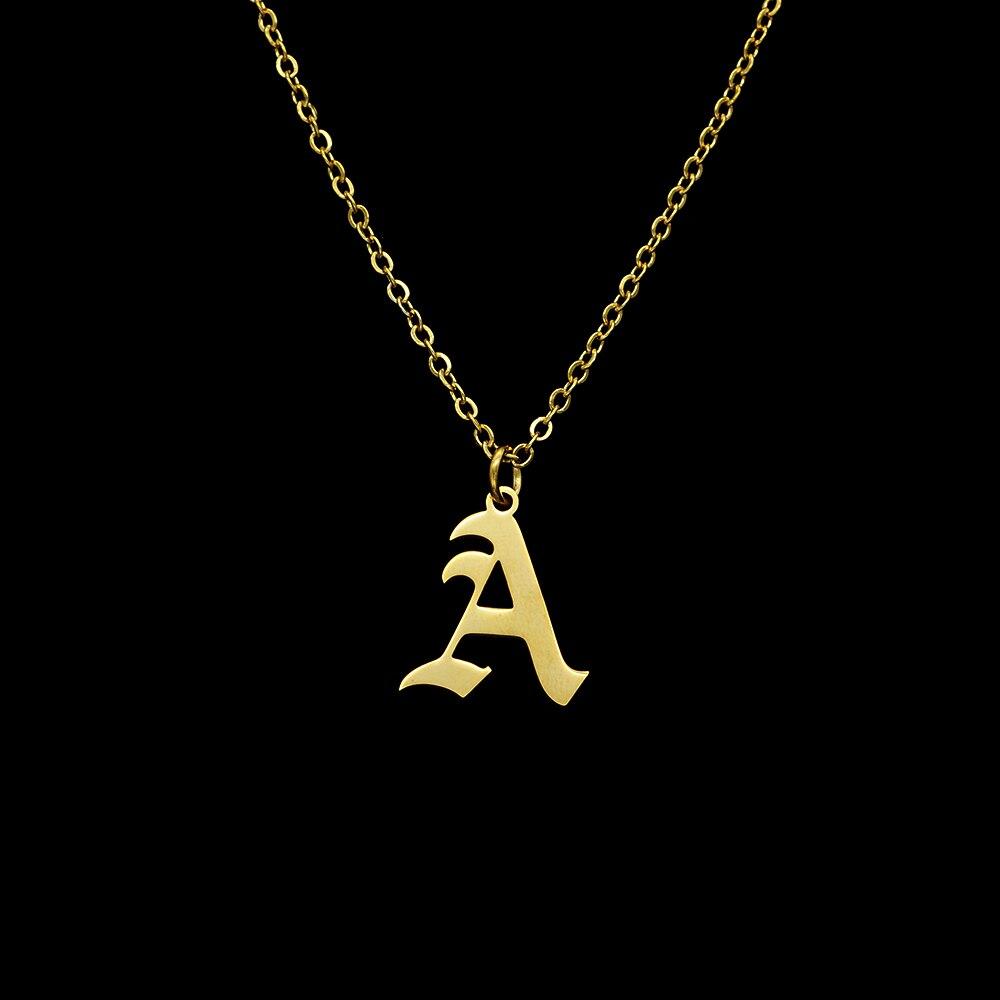 26 шт./компл. A-Z 100% из нержавеющей стали, с надписями на английском языке ожерелье для женщин оптовая продажа Первоначальный Алфавит ювелирны...