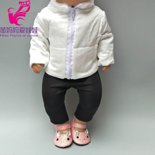цена For 43cm  doll down coat clothes for 18