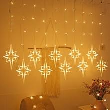 Window-Curtain Garlands Led-String-Lights Festoon Christmas-Fairy-Lights Wedding Halloween