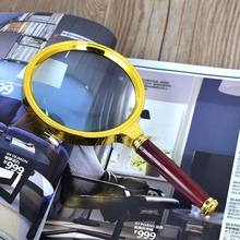 Lupa de vidro lupa 6 x legal handheld 90mm jóias lupa leitura