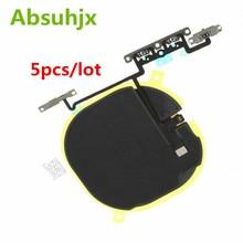 Absuhjx 5 個ワイヤレス Nfc ボリュームフレックスケーブル iphone × 充電コイル充電アンテナ修理部品