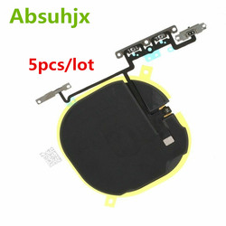 Absuhjx 5pcs Wireless NFC with Volume flex cable for iPhone X Charging Coil Charge Antenna Repair Parts