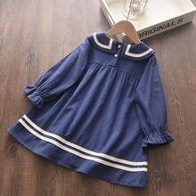 Keelorn Mädchen Kleid 2021 Neue Frühling Herbst Kinder College Stil Prinzessin Kleider Langarm Kinder Casual Kleidung