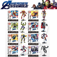 8pcs/lot Super Heroes Avengers Iron Man Robot Hulk Buster Venom Sets Building Block Kid Toys Edcation Model Baby Toys B809 цены онлайн