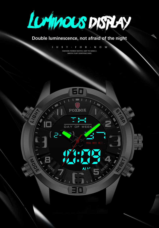 H0dea40c5fdc648dcbbbdb92f44d1c7aeu Watch For Men FOXBOX Top Brand Luxury Dual Display