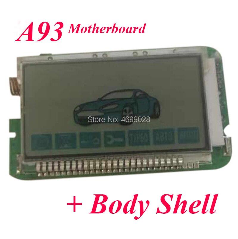 A93 LCD Remote Control + Silicone Case For Starline A93 LCD Remote Keychain Fob + Silicone Key Case
