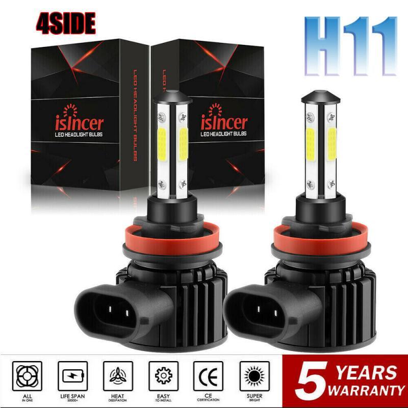 Комбинированный 4-сторонняя лампа светодиодный лампы для передних фар H7 светодиодный Автомобильные фары H11 HB3 9005 HB4 9006 6500K 44W 12V 24V 8000LM авто фар...