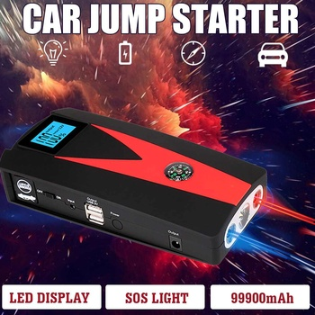 12V 82800/99900mAh Portable Car Jump Starter Booster Battery Charger USB Charger Emergency Powers Car LED For Starting Device