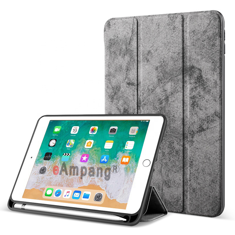 Dark Gray Green For iPad 10 2 2019 Case with Pencil Holder for Apple iPad 7 7th Generation A2197