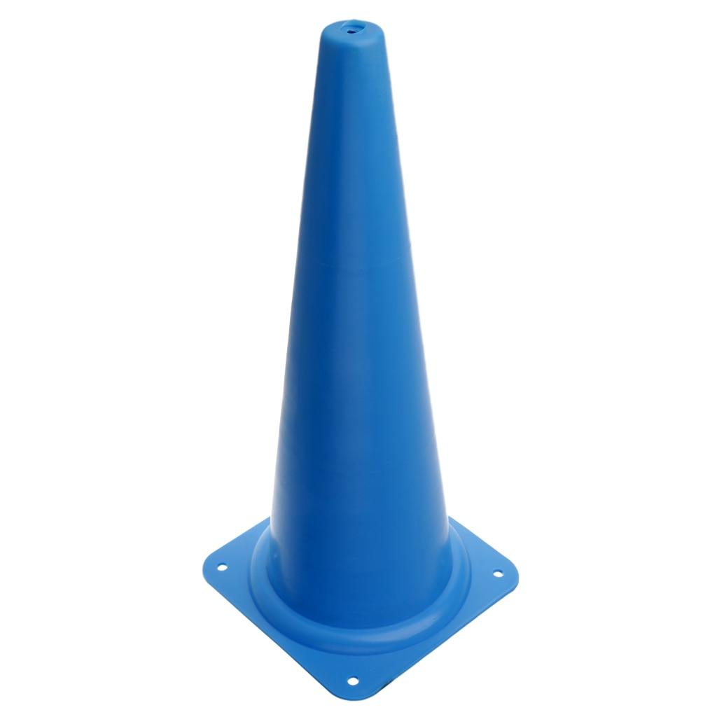 48 см конус безопасности для спортивных тренировок, футбола, строительства, дорожного движения - Цвет: Синий