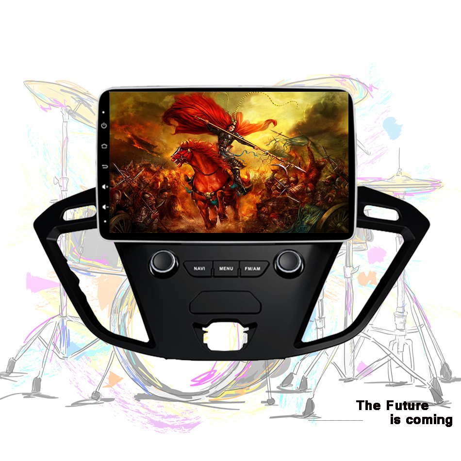 Newest Android 9.0 octa core stereo radio <font><b>gps</b></font> dvd video player with 2G RAM For <font><b>Ford</b></font> <font><b>transit</b></font> 2013 2018 image