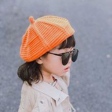 Unisex Kids Children Knitted Berets Winter Warm Pumpkin Babys Hat Painters Cap