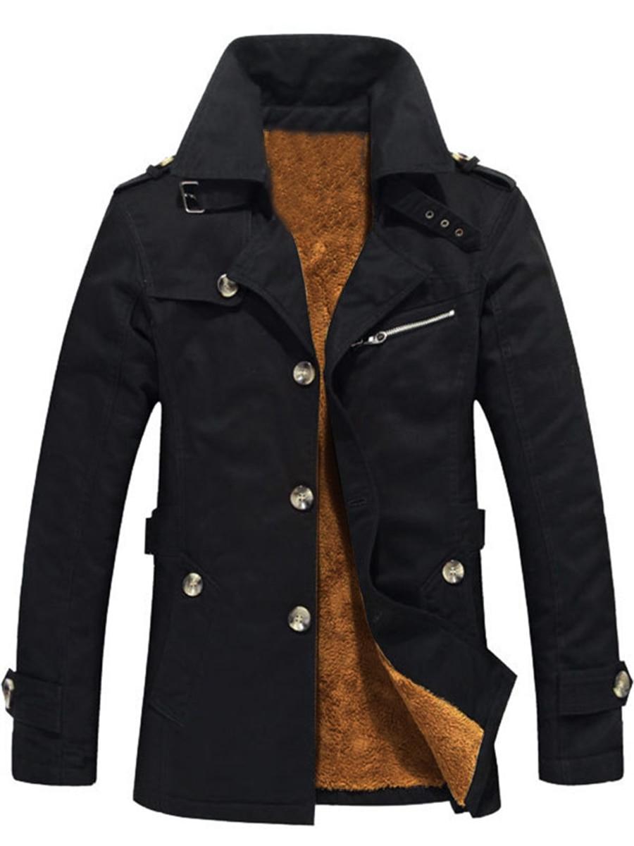 Warmness Men's Jacket Winter Fleece Overcoat Casual Thick Army Green Coats Men Windbreaker Black Plus Size 5XL Mens Outwear