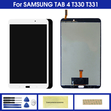 цена на LCD For Samsung Galaxy Tab 4 SM-T330 SM-T331 T330 T331 Touch Screen Digitizer LCD Display Panel Glass Assembly Replacement Parts