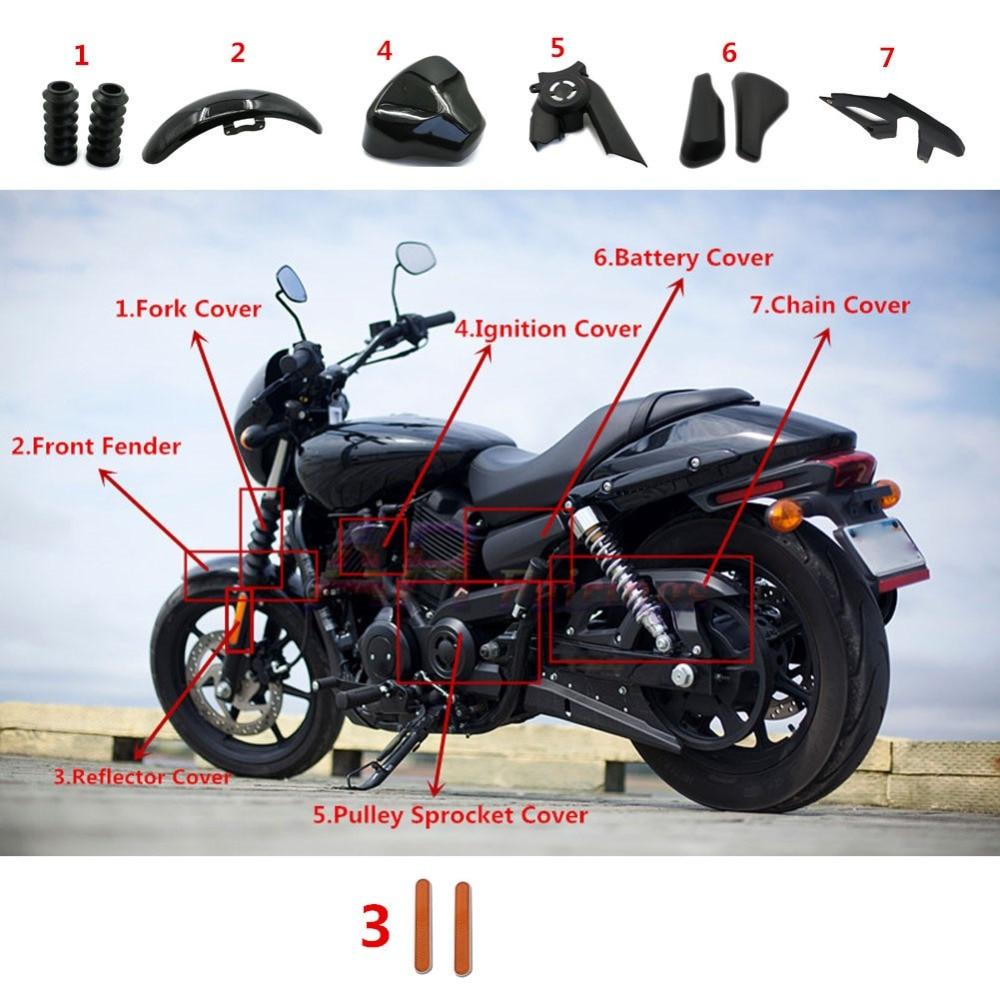 Handlebar Drag Style For Harley Davidson Street 750 XG750 2015 2016 2016 Satin Black