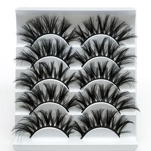 Image 2 - SEXYSHEEP 5pair 3D Faux Mink Eyelashes Natural False Lashes Wispy Makeup Beauty Extension Tools maquiagem faux cils