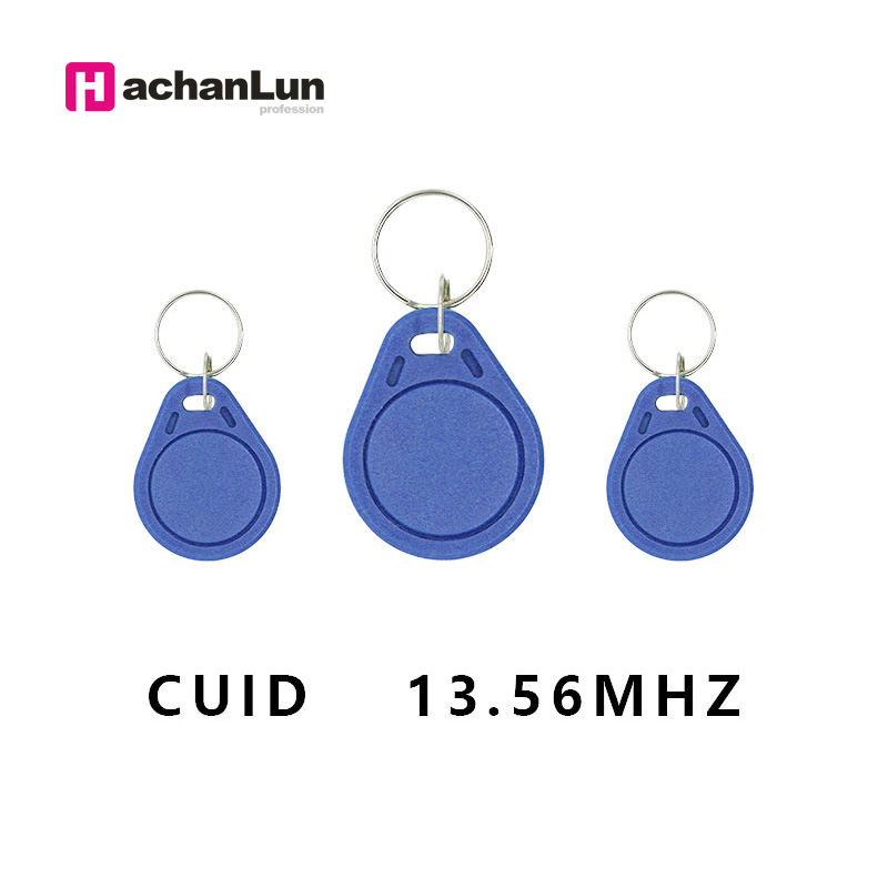 HaChanLun 10PCS 13.56MHZ Access Control Keychain RFID Rewritable Copy Electronic Tag NFC Smart Chip Card 0 Sector Rewritable