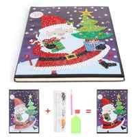 Diy diamante pintura caderno especial em forma de diamante 60 páginas a5 caderno presente de natal para o escritório do estudante