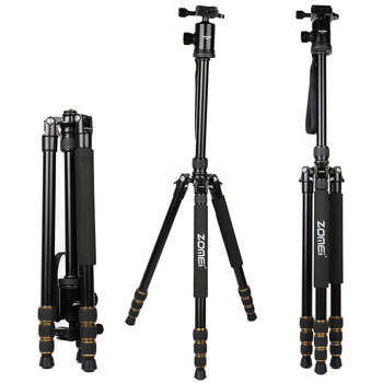Zomei Z668 Professional Photograph Travel Compact Aluminum Heavy Stable Tripod for Digital DSLR Camera