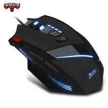 Wired משחקי עכבר 7 כפתור 7200 DPI LED אופטי USB מחשב גיימר עכבר עכברים משחק עכבר למחשב נייד למחשב ארגונומי עכבר