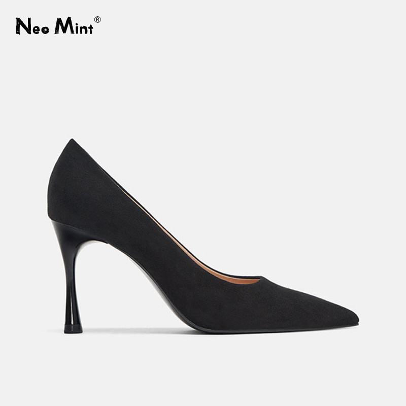 Pumps Women Shoes Strange-Heels Yellow Stiletto Pointed-Toe Ins-Style Fashion Suede