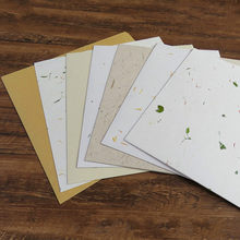 Chinese Yulong Rice Paper Cards Half Ripe Xuan Paper Calligraphy Painting Mounting Xuan Paper Cards Carta Di Riso 10 Sheets(China)