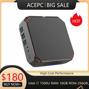 ACEPC Mini Gigabit Gaming Intel-Core I5 7200u Windows10 I7 7500u HDMI Linux I3 7100u