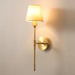 Wysokiej jakości złota ściana światła nowoczesny kinkiet AC110V 220v biały abażur lampka do sypialni