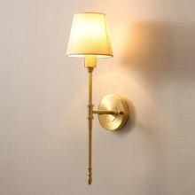 Hohe qualität gold wand lichter moderne wandleuchter AC110V 220v weiß lampenschirm schlafzimmer lampe