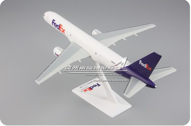 24cm Plastic Fedex Plane Model B757-200 N901FD Airlines Airplane Model W Stand Aircraft Gift